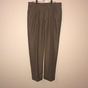 Perry Ellis dress pants, Brown, size 33X30 -EUC.